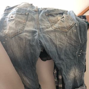 Hollister Jeans - Distressed boyfriend capris